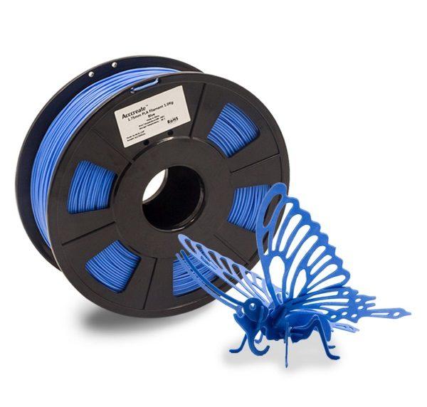 Filament 3d ACCCREATE PLA bleu bobine