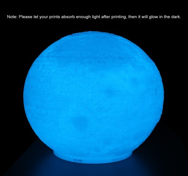 Filament 3d AMOLEN PLA bleu phosphorescent nuit