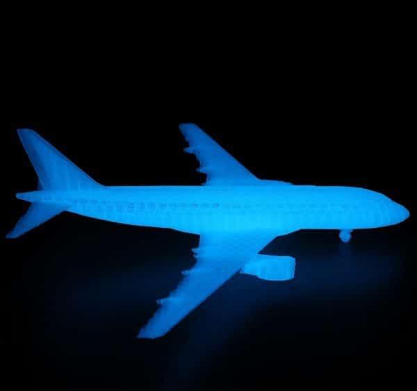 Filament 3d AMOLEN PLA bleu phosphorescent impression
