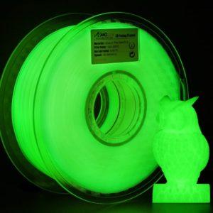 Filament 3d AMOLEN PLA vert phosphorescent bobine