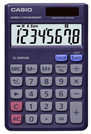 Calculatrice économique solaire CASIO SL 300 top3