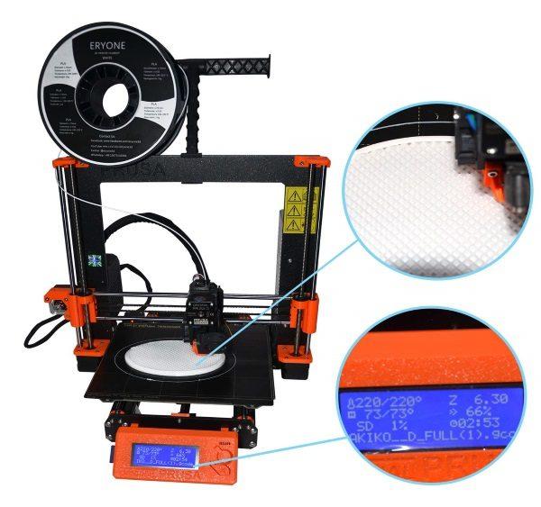 Filament 3d ERYONE PLA blanc impression