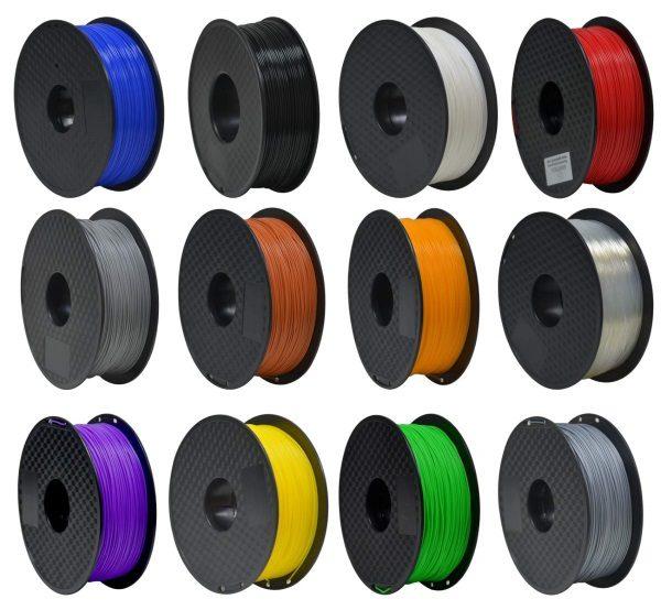 Filament 3d GEEETECH PLA gris couleurs