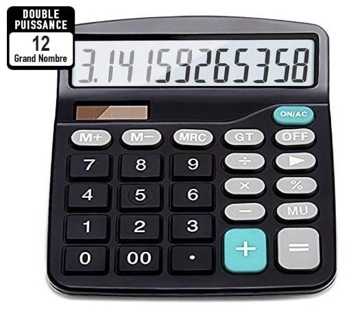 Calculatrice de bureau solaire HANPURE top3