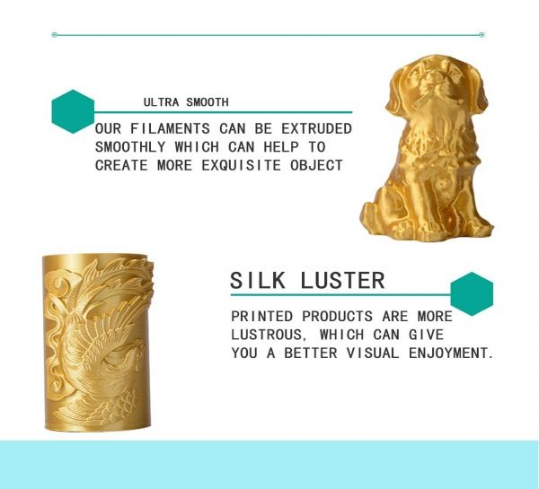 Filament 3d KEHUASHINA PLA or GOLD qualité