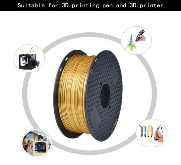 Filament 3d KEHUASHINA PLA or GOLD caractéristiques