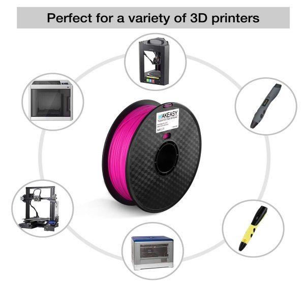 Filament 3d MAKEASY PLA violet stylos et imprimantes