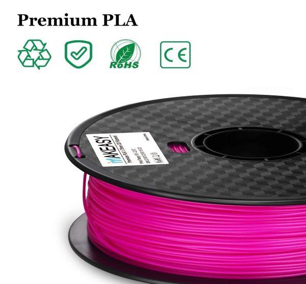 Filament 3d MAKEASY PLA violet normes labels