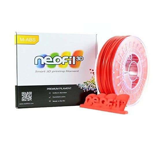 Filament 3d NEOFIL3D ABS rouge 0.75kg 750g