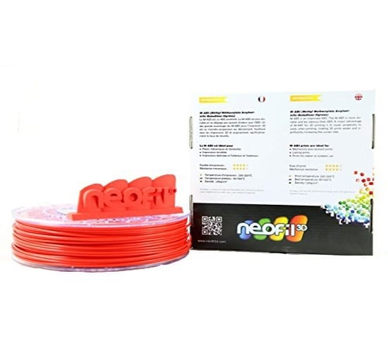 Filament 3d NEOFIL3D ABS rouge 1.75mm