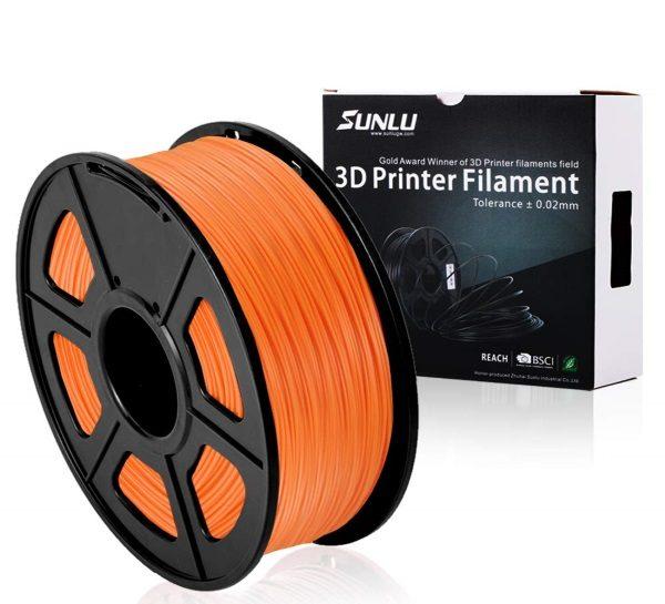 Filament 3d SUNLU PLA orange bobine