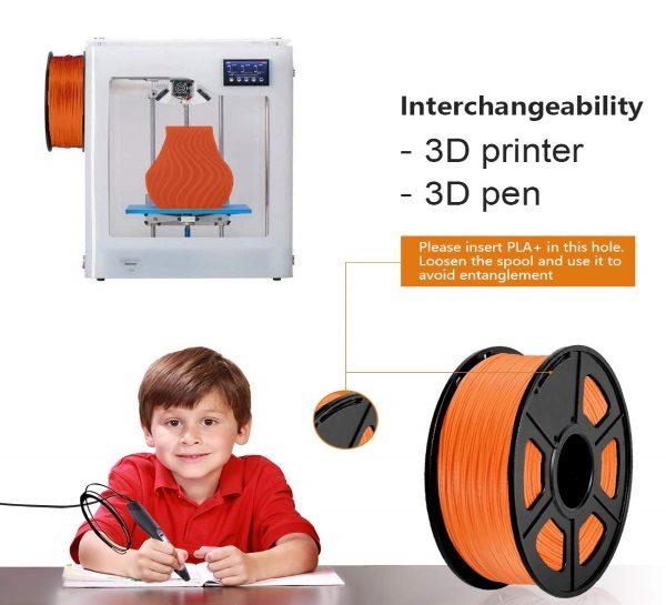 Filament 3d SUNLU PLA orange sécurité