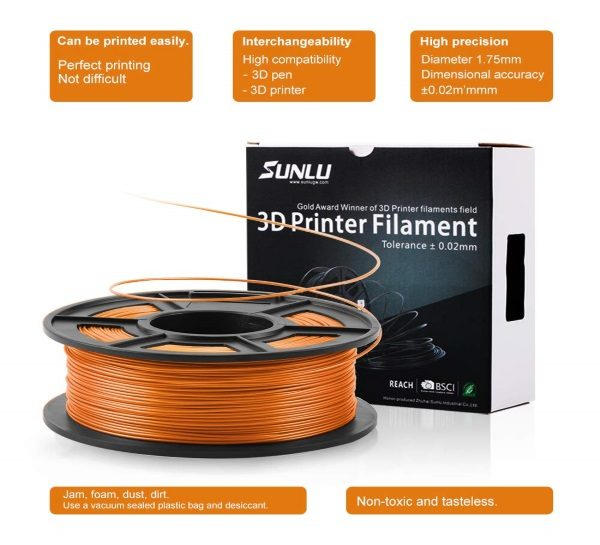 Filament 3d SUNLU PLA orange fil