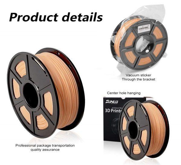 Filament 3d SUNLU PLA peau skin emballage