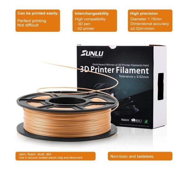 Filament 3d SUNLU PLA peau skin 1kg