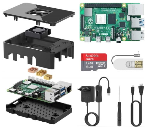 Kit de démarrage Raspberry Pi 4 TICTID 1Go starter kit top