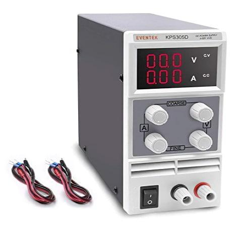Alimentation stabilisée pas cher réglable de 0-30V sous 5 ampères, alim de labo variable en tension et intensité, avec protection électrique et garantie 2 ans