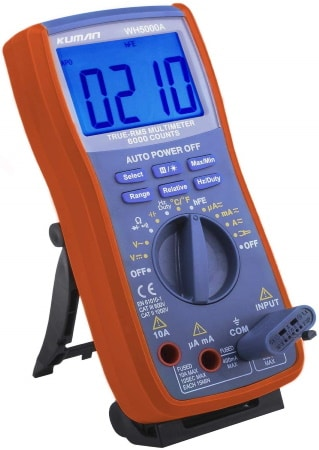 Appareil de mesure avec étuis de protection en forme de coque avec support multimètre numérique digital automatique top3