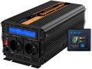 Convertisseur 12V 2000W pur sinus (crête 4000W) transformateur de tension batterie pour courant alternatif 220v secteur avec télécommande top4