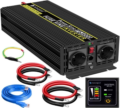 Convertisseur 12v 220v 3000w en pur sinus, max 6000W courant alternatif, transformateur de tension batterie pour prise de courant secteur 230v top4