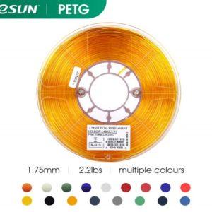 Filament 3d eSUN PETG jaune or bobine