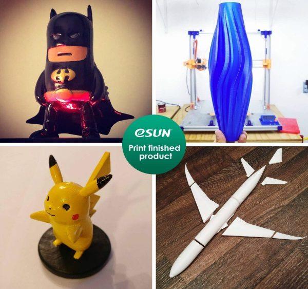 Filament 3d eSUN PETG jaune or impressions