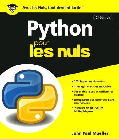 Livre programmation python pour les nuls données modules fichiers bibliothèques top5