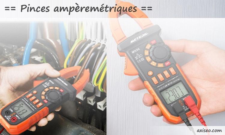 Meilleures pinces amperemetriques numérique automatique sans fil, mesure intensité câble courant et tension avec affichage LCD rapide top4
