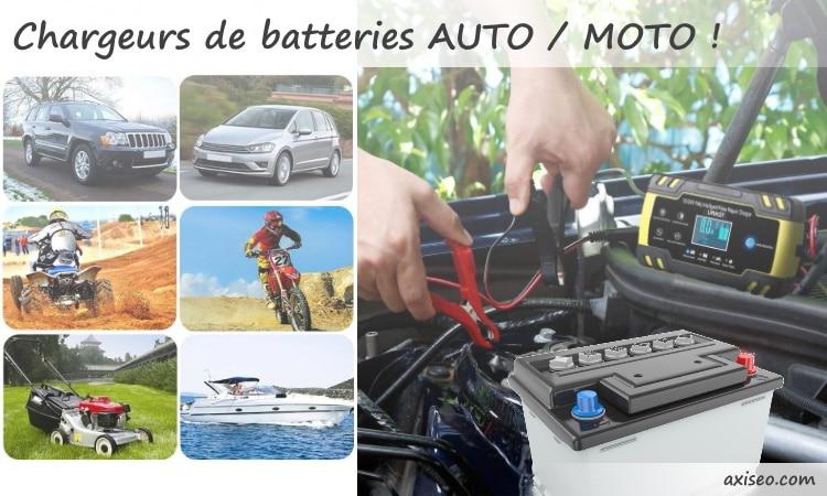 Meilleurs chargeurs batteries voiture pas cher, 6v 12v ou 24v, pour auto ou moto modèles intelligent et désulfatage top4