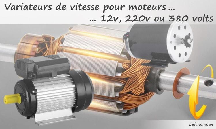 Variateurs de vitesse pour moteur 12v à courant continu, et 220v monophasé ou 380v triphasé en courant alternatif, avec variateur de fréquence
