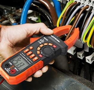 Mesurer intensité pince amperemetrique câble sans toucher ni débrancher, affichage automatique écran LCD numérique, sans couper fil électrique top4