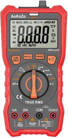 Multimètre numérique automatique AOKOZO testeur électrique portable professionnel TRMS 20A 1000V mesure courant alternatif comme tension alternative top4