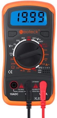 Multimètre numérique économique NEOTECK électricien fonctions voltmètre ampèremètre ohmmètre et testeur de continuité électrique top4