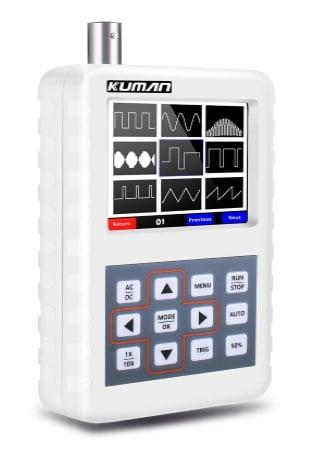 Oscilloscope numérique portable 5 MHz de bande passante, échantillonnage 20 Msps, avec affichage 320x240, sonde BNC, pour débuter en électronique
