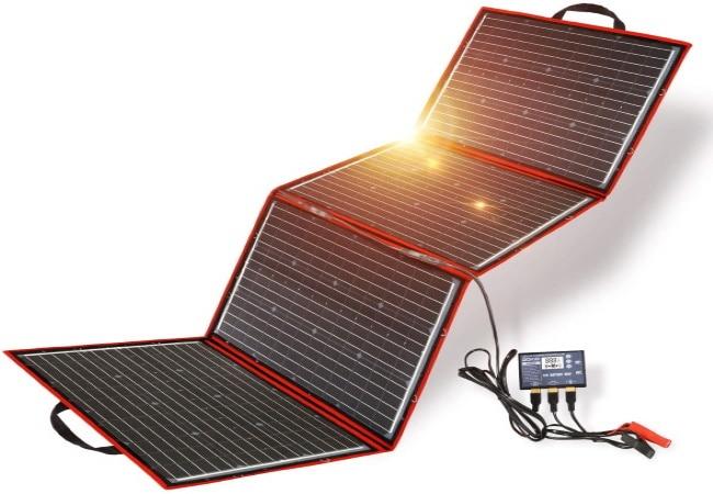 Panneau solaire portable 12V 150W port USB portable pliable flexible régulation top5