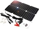 Panneau solaire étanche 18 volts 18 watts recharge batterie avec pinces et allume cigare voiture top5