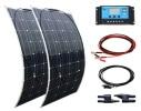 Panneau solaire flexible 12 volts 200 watts électricité automobile camping car voiture régulation électronique top5