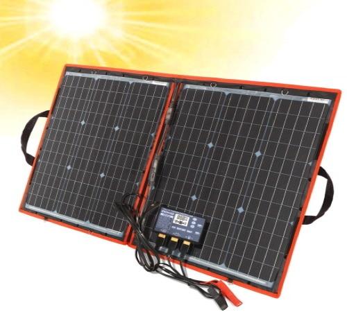 Panneau solaire portable 12V 24V 80W port USB pliable portable imperméable avec régulateur top5