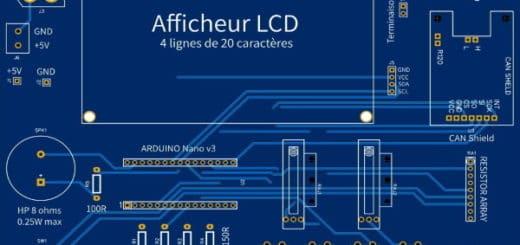 PCB carte électronique projet émetteur récepteur BUS CAN, dossier de fabrication Gerber pour réalisation circuit imprimé, même débutant élec