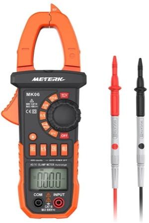 Pince amperemetrique pas cher METERK 4000 mesure de courant direct, intensité câble, sans contact multimètre, mesure 40A 400A top4
