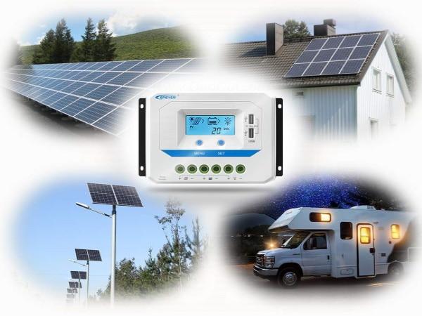 Contrôleur de charge solaire pour panneaux photovoltaïques maison, camping-car, régulateur énergie soleil pour électricité gratuite top4