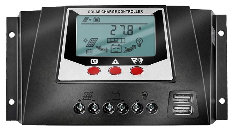 Régulateur solaire PWM SOLAR 12V, 24V, 36V et 48V pour 50A avec afficheur LCD et doubles port USB pour panneau photovoltaïque top4