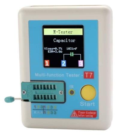 Testeur de composant électronique LCR-T7, idéal pour tester ses résistances, condensateurs, diodes, transistors, appareil de test multifonction pas cher