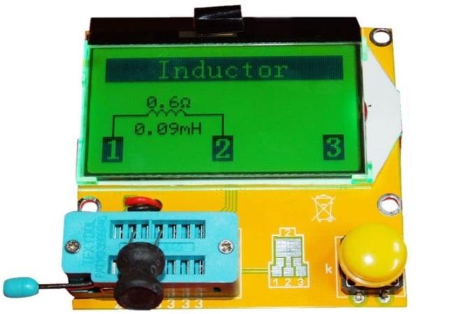 Testeur de composant électronique pas cher, pour condo, self, bobine, transistor, appareil de test économique et rapide, sur pile 9v, facile à utiliser