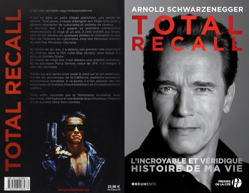 Total Recall Livre d'ARNOLD SCHWARZENEGGER