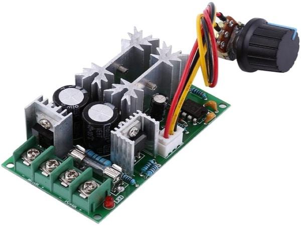 Variateur de vitesse moteur 12v à courant continu, fonctionnement PWM pour aussi 24V 36V et 48V sous 20A, avec tension DC de 10 à 60 volts